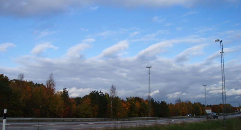 郊外で撮影されたケルビン・ヘルムホルツ不安定性雲の写真
