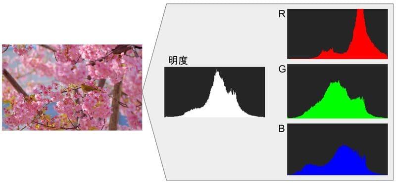 ヒストグラムの種類の説明図