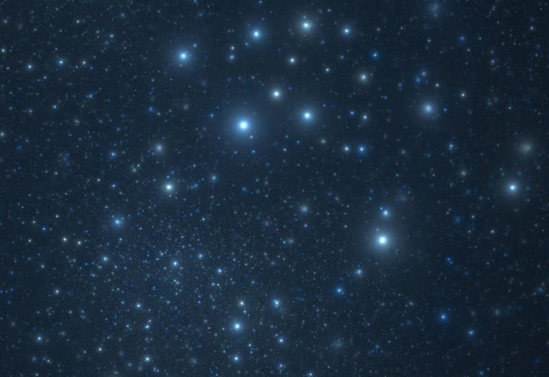 ソフトフィルターを使って撮った星空の写真