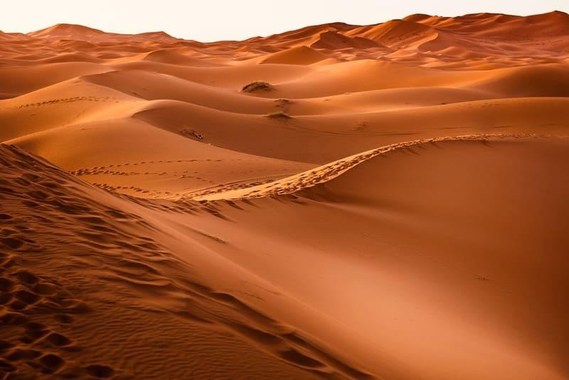 カラカラの砂漠