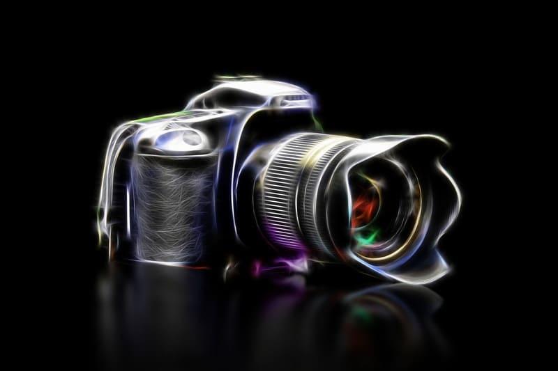 一眼レフカメラのCGのような絵画のような写真