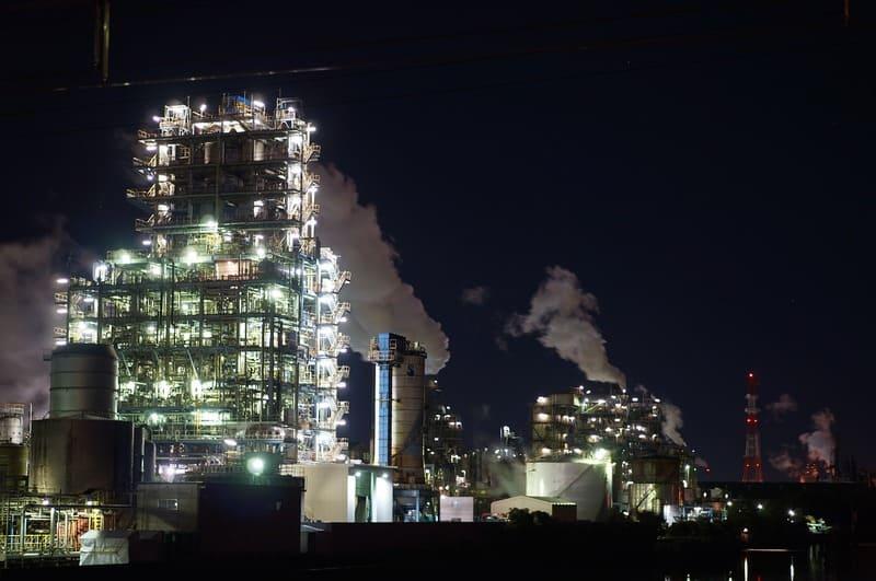 工場夜景明かり
