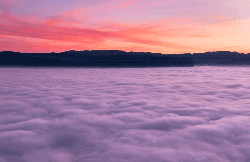 日の出直前の雲海