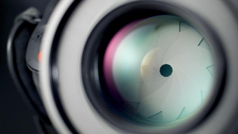 レンズ内の絞りの写真