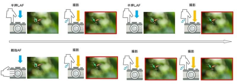 親指AF使用イメージ