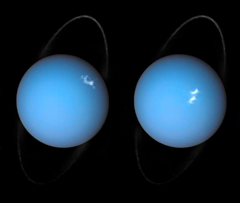 天王星のオーロラ