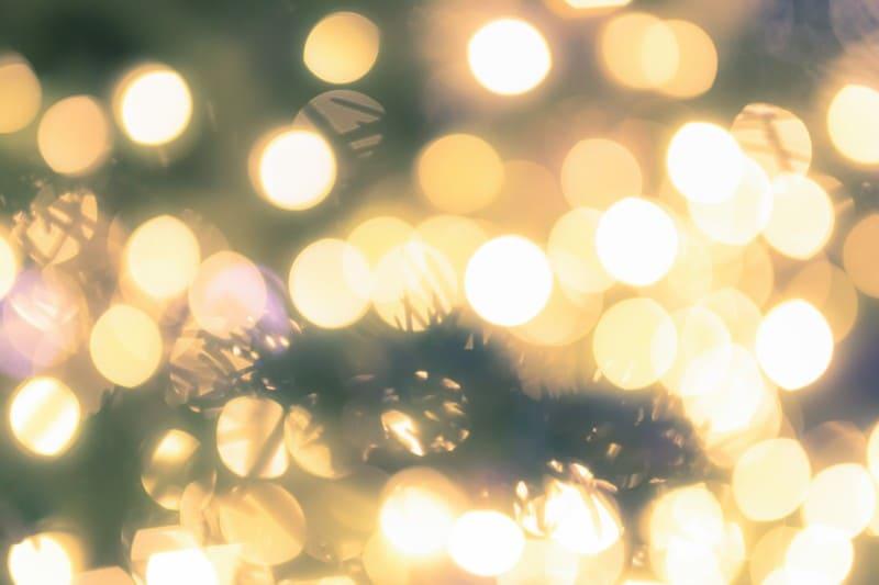 玉ボケとクリスマスツリー