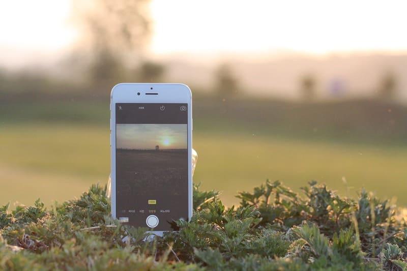 iPhoneの夕焼け撮影